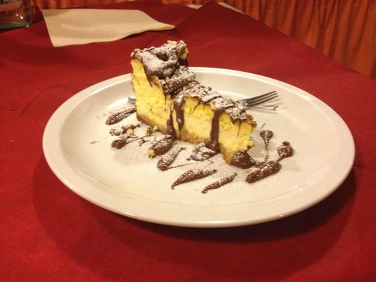 Ristorante La Sorgente : Il cheesecake fatto in casa