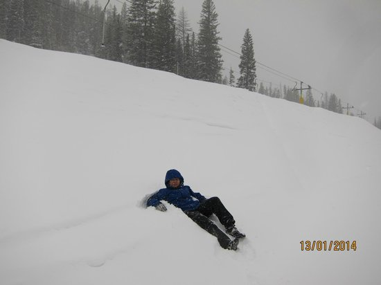 Winter Park Resort: very thick snow