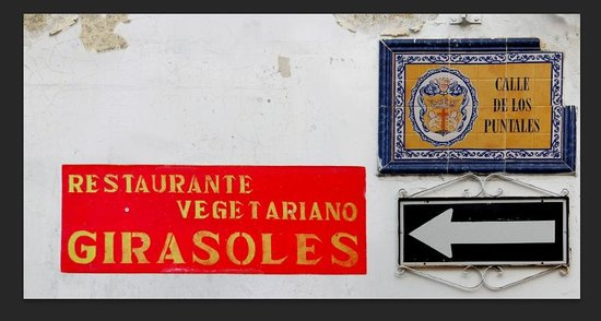Restaurante Vegetariano Girasoles: If you find this street, you've found us!