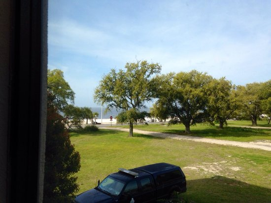 Hampton Inn Biloxi : If you look hard enough you can see the ocean past the trees