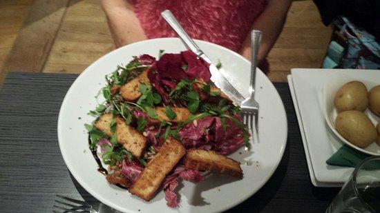 River Green Cafe: Tofu salad,  Scrumptious! !!
