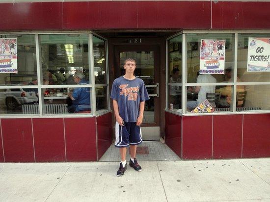 Lafayette Coney Island: My grandson