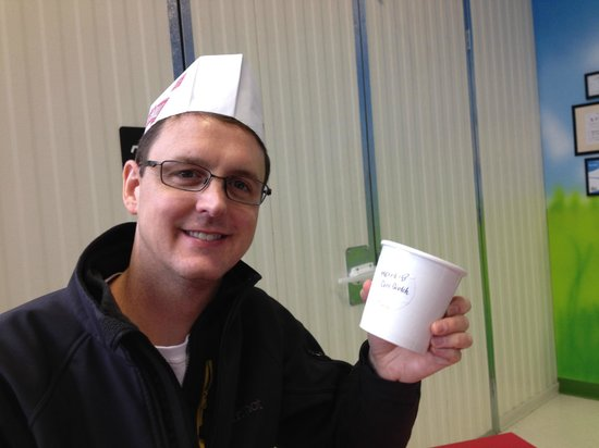 Turkey Hill Experience: My husband with his create your own ice cream in the Taste Lab
