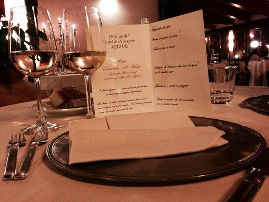 Hotel 2 Mari : la nostra cena