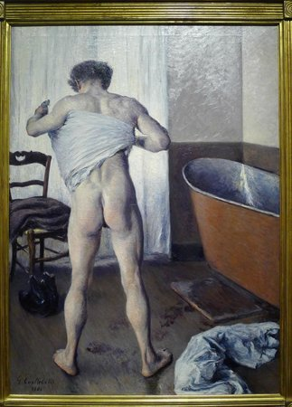 Museum of Fine Arts: The most recent addition - Gustave Caillebotte's A Man at his Bath (1884)