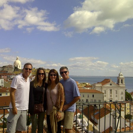 Lisbon Stories: Mr. Miller and his friends, enjoying one of Lisbon's best views