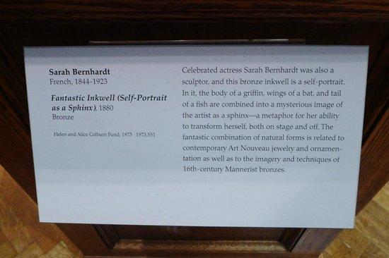 Museum of Fine Arts: Sarah Bernhardt's Inkwell.