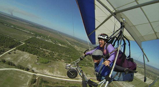 Florida Ridge AirSports Park: I got to try my hand at controlling the glider!