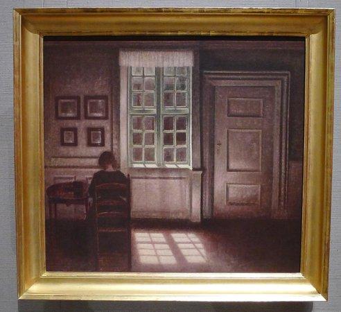 Museum of Fine Arts: Vilhelm Hammershøi's Woman in an Interior (1909).