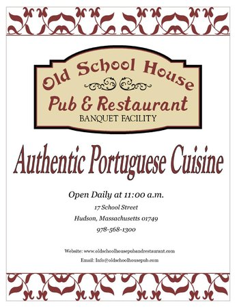 Old Schoolhouse Pub & Restaurant: New & Improved Menu as of 4/1/14