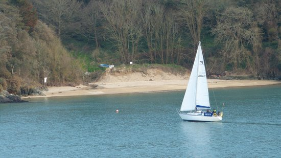 Salcombe Harbour Hotel & Spa: ..looking across the estuary from the room..