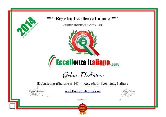 Gelateria Salaria Gelato d' Autore: Eccellenza Italiana