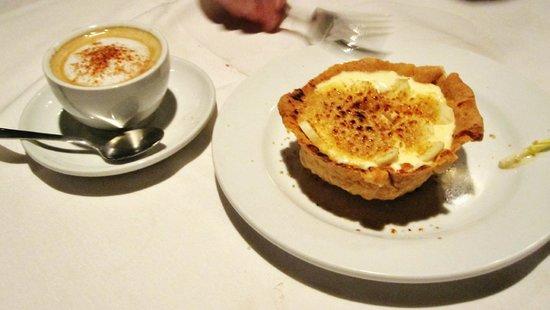 Ruth's Chris Steak House: cappuccino and banana cream pie (very liquidy)