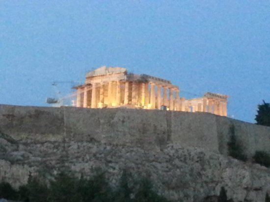 Acropolis View Hotel: Вид с террасы