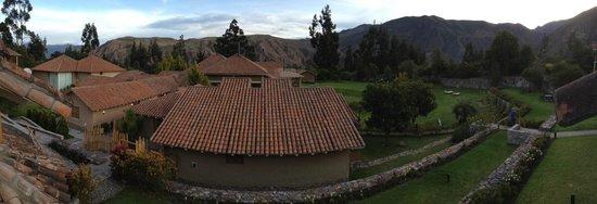 Casa Andina Premium Valle Sagrado Hotel & Villas: View of main lodge from room balcony