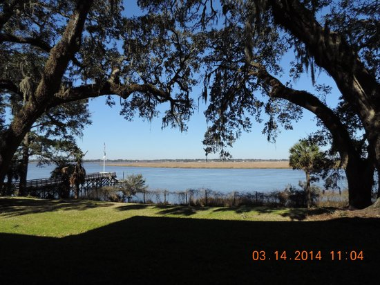 Hobcaw Barony Visitors Center : View of the Marsh off the dock near Bernard Baruck's home