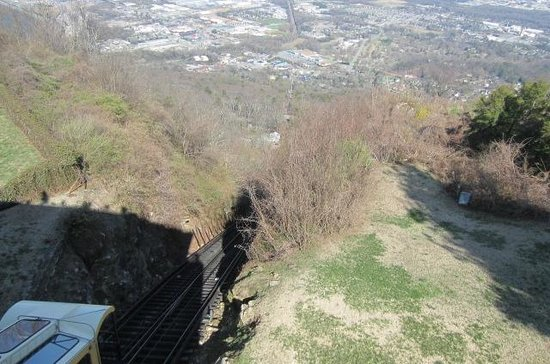 The Lookout Mountain Incline Railway: View of Chattanooga