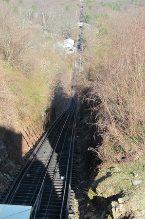 The Lookout Mountain Incline Railway: Looking down from Look Out Point