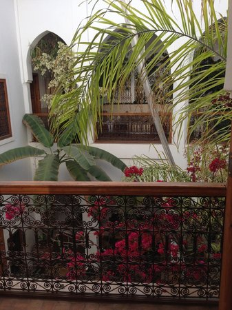 Riad Miski: View from our room out to the courtyard