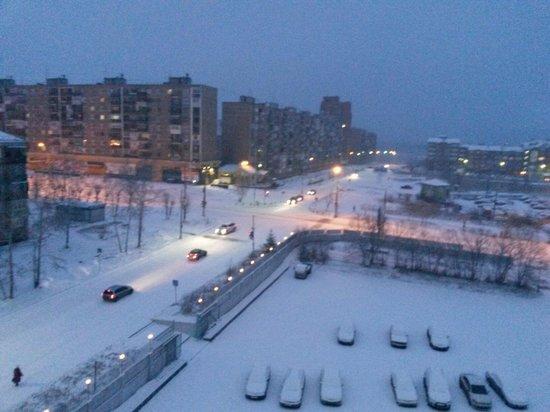 Bratsk Hotel: Вид из окна
