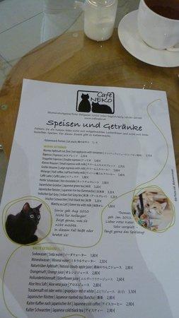 Cafe Neko Wien Speisekarte