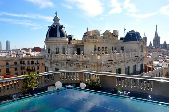 rooftop pool picture of hotel ohla barcelona barcelona