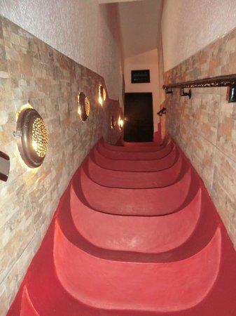 Riad Jomana : Escalier très particulier mais magnifique