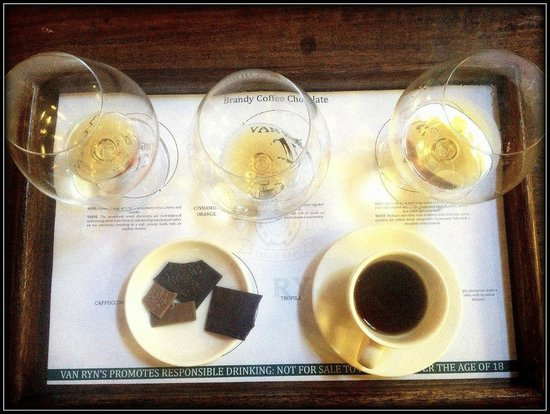 Van Ryn's Distillery: Brandy, Coffee and Chocolate combo