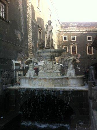 Fontana dell'Amenano : fontana dal lato mercatro pesce