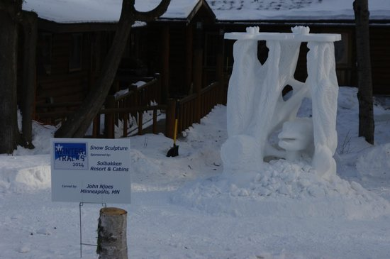 Solbakken on Superior: Winter Tracks Snow Sculpture 2014