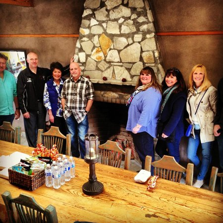 Wine Canyon Tours: Its cold out, so why not have a fire  and lunch at Alma Rosa