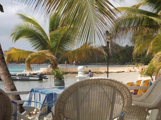 Coco Reef Resort & Spa Tobago: VIEW AT LUNCHTIME