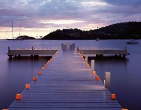 Carlisle Bay Antigua : Romantic dinner