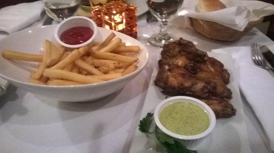 Regency Hotel Miami: Chicken and cilantro sauce
