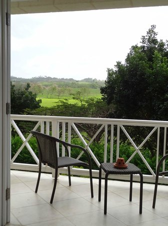 Sion Hill Plantation: South House Top Floor - Flamboyant Suite balcony and view
