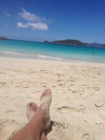 The Westin St. John Resort Villas : chilling on cinnimon bay beach