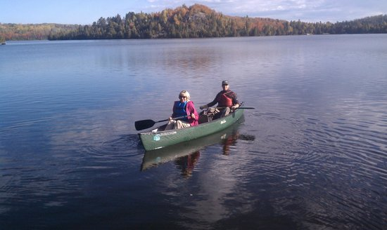 Solbakken Resort: Canoes available for rent on inland lakes.
