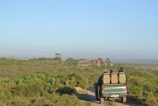 Garden Route Game Lodge: de lodge vanuit de jeeps