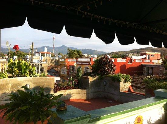 Hostal Casa La Milagrosa: vue de la terrasse
