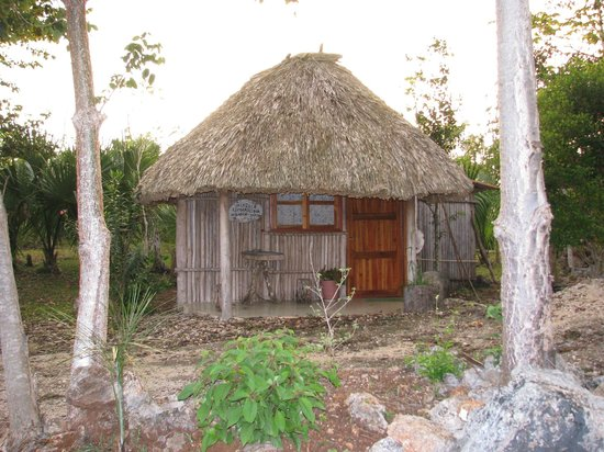 Kiichpam K'aax: Another one of the nine traditional cabanas.