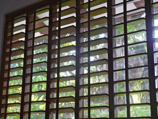 Dreamy Contentment: Fenster mit Lammellengitter - zum Teil defekt