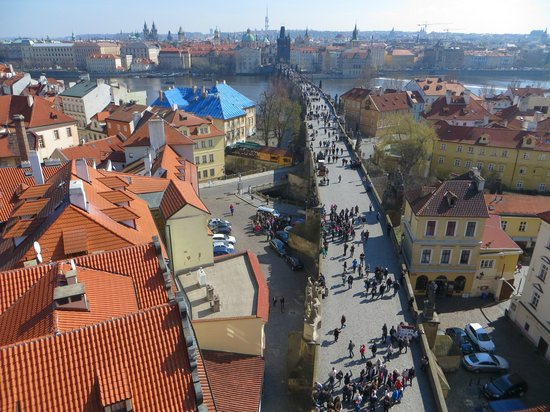 Hotel Pod Vezi : View of Charles Bridge from Tower (entry is free to guests)