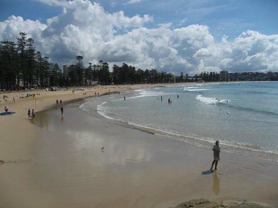 At one end of Manly Beach