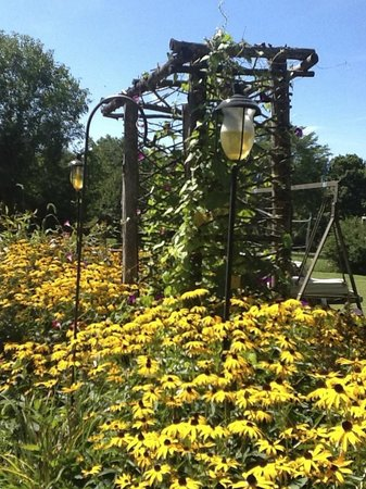Mountain Meadows Bed & Breakfast: Beautiful arbor leading form the patio to the yard