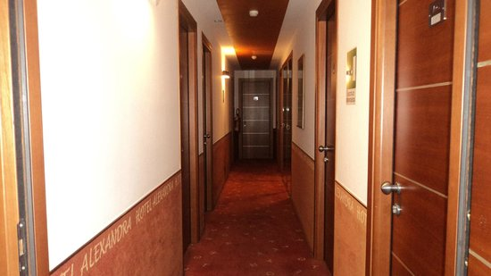 Hotel Alexandra : corridoio