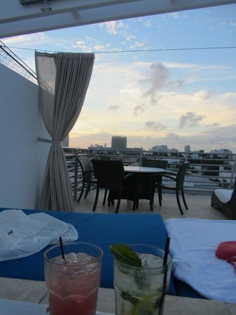 Z Ocean Hotel South Beach : View from Hot Tub