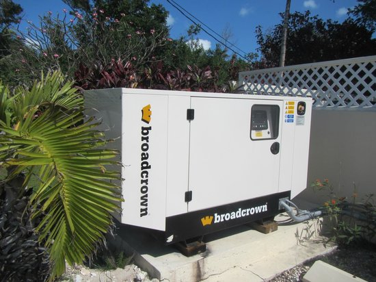 Island Breezes: Full automatic backup generator.