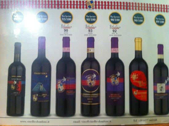 Fattoria del Colle - Agriturismo: Vinhos
