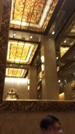 Regal Kowloon Hotel: The illuminated glass ceiling