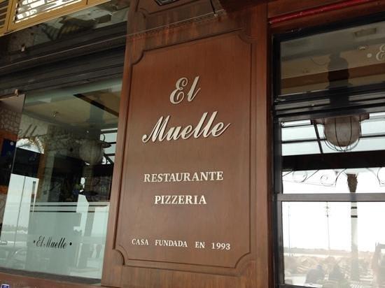 Restaurante El Muelle: el muelle